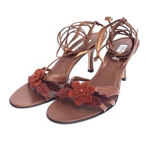ISAAC Made in Italy Leather Heel Sandal